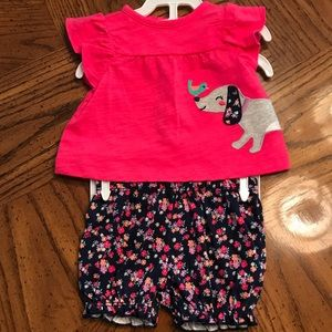 NWT Carters NB Baby Girl Outfit